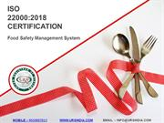 ISO 22000 Certification for Food Chain Management