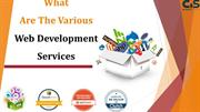 What Are The Various Web Development Services