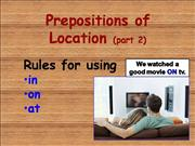 Prepositions of Location, Part 2