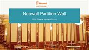 Sound-proof Moveable wall - Neuwall