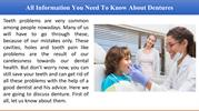 All Information You Need To Know About Dentures
