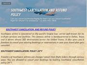 SOUTHWEST CANCELLATION AND REFUND POLICY