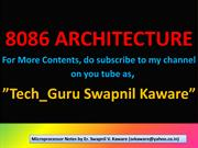 8086 Architecture By, Er.Swapnil V. Kaware