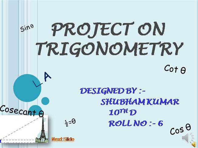 Project On Trigonometry Authorstream