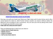 FRONTIER AIRLINES CHECK-IN OPTIONS