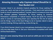 Amazing Reasons why Cayman Island Should be in Your Bucket-List