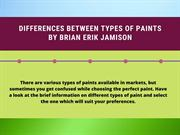Paints By Brian Erik Jamison Portland