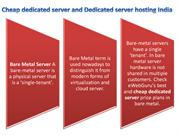 dedicated server hosting India | cheap dedicated server