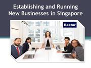 Establishing and Running New Businesses in Singapore