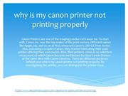 why is my canon printer not printing properly