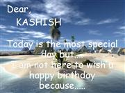Happy B'day Kashish