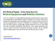 Medical Supply Store – Get quality medical supplies  ACG Medical