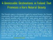 4 Unmissable Destinations in Finland That Promises a Rare Natural Beau