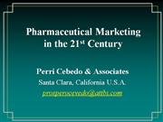 Pharma Marketing 21st
