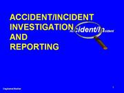 ACCIDENT-INCIDENT INVESTIGATION AND repo