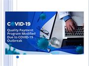 Quality Payment Program Modified Due to COVID-19 Outbreak
