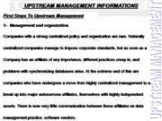 Upstream Management