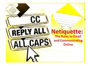 Netiquette PowerPoint