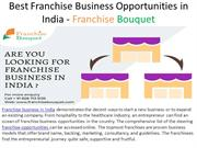 Best Franchise Business Opportunities in India - Franchise Bouquet