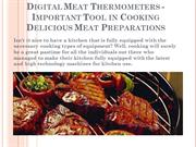 Digital Meat Thermometers - Important Tool in Cooking Delicious Meat P