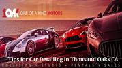 Tips for Car Detailing in Thousand Oaks CA