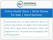 Online Health Store | Nitrile Gloves For Sale | Hand Sanitizer