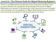 Aaron Lal | The Ultimate Guide For Digital Marketing Beginners