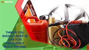 Things you Should Keep in Car for Emergency while Driving