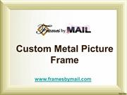 custom picture frame - frame by mail
