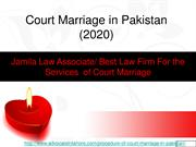 Best Way For Court Marriage in Pakistan : Court Marriage Law