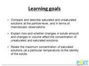 Saturated Solutions Annotated Lecture Slides