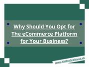 Why Should You Opt for The eCommerce Platform for Your Business