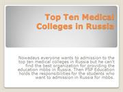 Top Ten Medical colleges in Russia - Mbbs Admission 2020