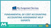Fundamental Of Cost  Accounting Assignment Help Experts