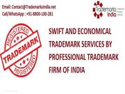 Swift and Economical Trademark Services by Professional Trademark Firm