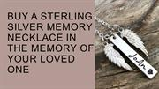 Buy a Sterling Silver Memory Necklace | The Silver Wing