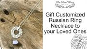 Sterling Silver Russian Ring Necklace | The Silver Wing