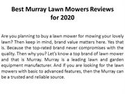 Best Murray Lawn Mowers Reviews for 2020