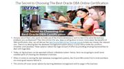 The Secret to Choosing The Best Oracle DBA Online Training