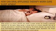 How can Oral Appliance Therapy Work Cure Sleep Apnea