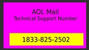 1833-825-2502 | AOL Mail Technical Support Number