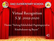 Three Rizal Virtual RecognitionS.Y. 2019-2020