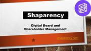 Paperless Board Meeting Software - Shaparency
