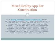 Mixed Reality App For Construction Install Today