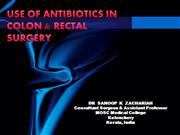 ANTIBIOTICS IN COLORECTAL SURGERY