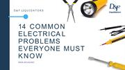 14 common electrical problems everyone should know