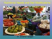 Dr. Jonathan Spages - Nutritional Needs and Diet Modifications