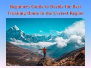 Beginners Guide to Decide the Best Trekking Route in the Everest Regio