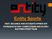 Reliable Cricket API | Cricket API Live score | Entity Sports