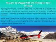 Reasons to Engage With the Helicopter Tour in Nepal